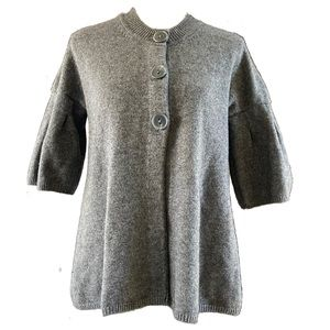 Vince Cashmere Bell Sleeve Gray Cardigan S